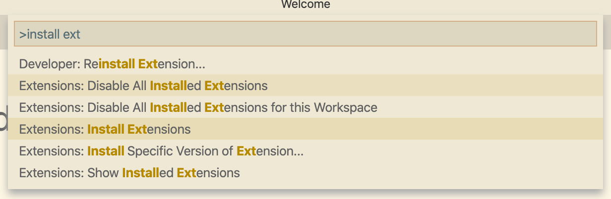 install an extension